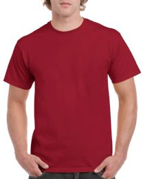 36 Units of Mens Cotton Crew Neck Short Sleeve T-Shirts Red, XxX-Large - Mens T-Shirts