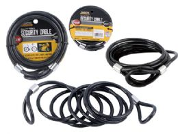 72 Units of Cable Lock 6mm Thick Black Clr - Biking