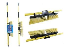 6 Units of Dual Angle Indoor/Outdoor Broom - Cleaning Products