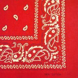 24 Units of RED PAISLEY BANDANA - Bandanas