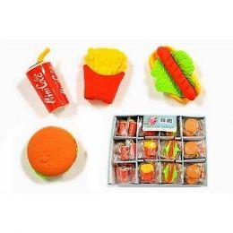 96 Units of FAST FOOD MINI SHAPED ERARSERS - Erasers