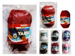 96 Units of Yarn Assorted Colors For Crochet And Knitting Multi Pack Variety Colored Assortment - Sewing Supplies