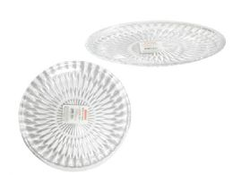 48 Units of Round Transparent Serving Tray - Serving Trays