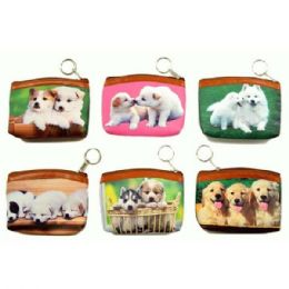 48 Units of Dogs Printed Coin Purse - Coin Holders & Banks
