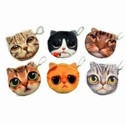 48 Units of Cat Face Coin Purse - Coin Holders & Banks
