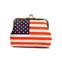 48 Units of Usa Flag Clasp Coin Purse - Coin Holders & Banks