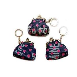 48 Units of Mini Denim Snap On Coin Purse - Coin Holders & Banks