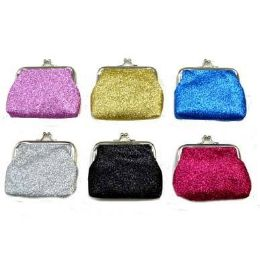 48 Units of Glitter Snap On Coin Purse - Coin Holders & Banks