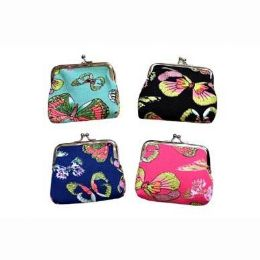 48 Units of Snap On Butterfly Coin Purse - Coin Holders & Banks