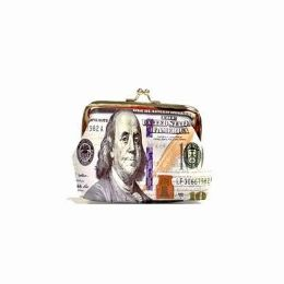 48 Units of Dollar Print Snap On Coin Purse - Coin Holders & Banks