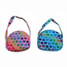 48 Units of Rainbow Hearts Shoulder Purse - Coin Holders & Banks