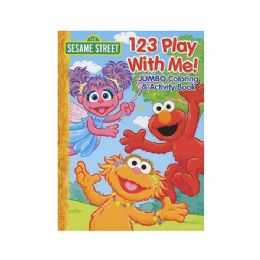 48 Units of Sesame Street 123 Play With Me Jumbo Coloring & Activity Book - Coloring & Activity Books