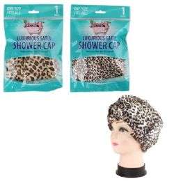48 Units of Luxurious Satin Shower Cap - Shower Caps