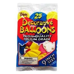48 Units of Inch Balloons - Balloons & Balloon Holder
