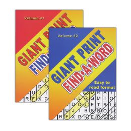48 Units of Giant Print FinD-A-Word Puzzles Book - Coloring & Activity Books