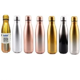 24 Units of Stainless Steel Double Walled Classic Edition Water Bottle Cup - Drinking Water Bottle