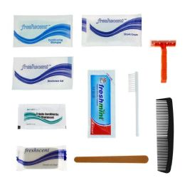 96 Units of Basic 11 Piece Hygiene & Toiletry Kit for Men, Women, Travel, Charity - Hygiene kits