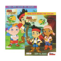 72 Units of JAKE NEVER LAND PIRATES Big Fun Book To Color - Coloring & Activity Books