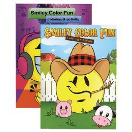 48 Units of SMILEY COLOR FUN Coloring & Activity Books - Coloring & Activity Books