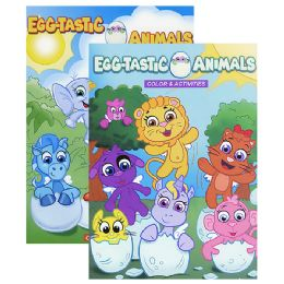 48 Units of EGG-TASTIC ANIMALS Color & Activities - Coloring & Activity Books