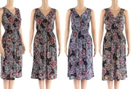 48 Units of Womens Floral Printed Summer Dress Assorted Color - Womens Sundresses & Fashion