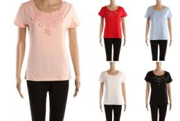 48 Units of Womens Fashion Top Floral Print Assorted Solid Color - Womens Fashion Tops