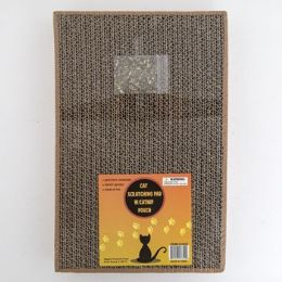 12 Units of Cat Scratching Cardboard Pad Heavy Duty With Catnap Pouch - Pet Grooming Supplies
