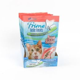 12 Units of Cat Treats Super Salmon Flavor - Pet Chew Sticks and Rawhide