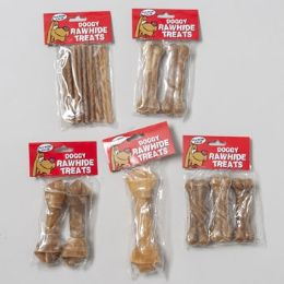 95 Units of Dog Chew Rawhide Natural - Pet Chew Sticks and Rawhide