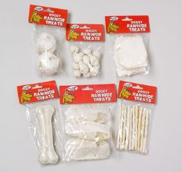 144 Units of Dog Rawhide White Small - Pet Chew Sticks and Rawhide