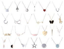 96 Units of Yacht & Smith Lot Of Sterling Silver /stainless Steel Necklaces - Necklace