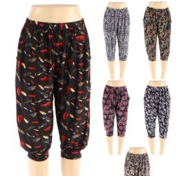 48 Units of Womens Fashion Assorted Syle Pants - Womens Capri Pants