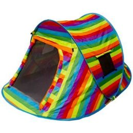 2 Units of Rainbow Pop Up Camping Tent - Camping Gear