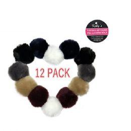 48 Units of Faux Fur Ball Pompom Key chain - Key Chains