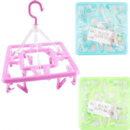 48 Units of Hanging Square Clothes Rack - Hangers