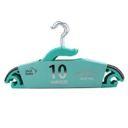 24 Units of 10 Pack Teal Clothes Hanger - Hangers