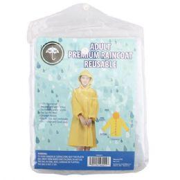 48 Units of Adult Raincoat - Umbrellas & Rain Gear