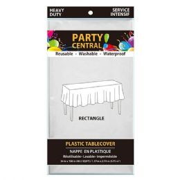 24 Units of Rectangle White Plastic Table cover - Table Cloth