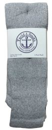 120 Units of Yacht & Smith Men's Cotton Tube Socks, Referee Style, Size 10-13 Solid Gray BULK PACK - Mens Tube Sock