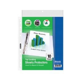 96 Units of Bazic Top Loading Sheet Protectors (10/pack) - Office Supplies