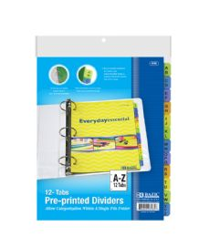 48 Units of Bazic 3-Ring Binder Dividers W/ 12-Preprinted A-Z Tab - Office Supplies