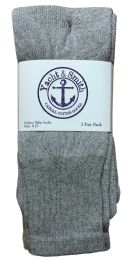 36 Units of Yacht & Smith Women's Cotton Tube Socks, Referee Style, Size 9-15 Solid Gray 28Inch - Womens Crew Sock