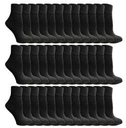 60 Units of Yacht & Smith Women's Premium Cotton Ankle Socks Black Size 9-11 BULK PACK - Womens Ankle Sock