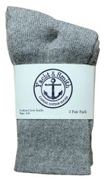 60 Units of Yacht & Smith Kids Premium Cotton Crew Socks Gray Size 4-6 BULK PACK - Boys Crew Sock
