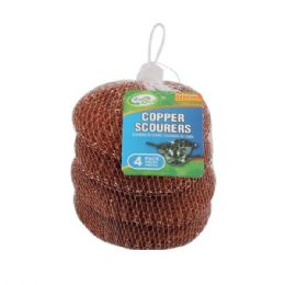 96 Units of 4 Pack Copper Scourers - Scouring Pads & Sponges