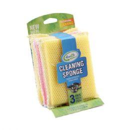 24 Units of 3 Pack Cotton Towel Sponge - Scouring Pads & Sponges