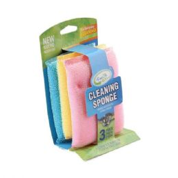 24 Units of 3 Pack Sponge Scouring Pads - Scouring Pads & Sponges