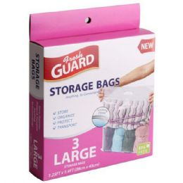 72 Units of 3 Pack Large Storage Bag - Storage Holders and Organizers