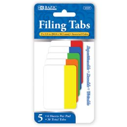 72 Units of Bazic 6 Ct. 2 X 1.5 Filing Tabs (5/pack) - Office Supplies
