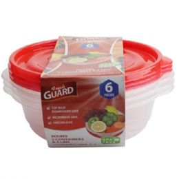 48 Units of 6 Pack Rectangle Food Container - Food Storage Containers